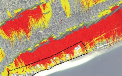WLV Gefahrenzonenplan für Steinschlag – Lunz am See