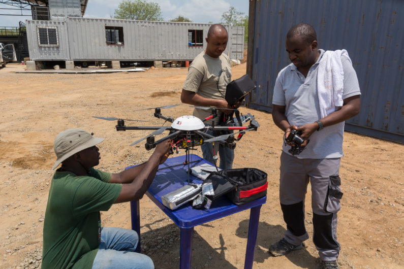 Drohnenwartung