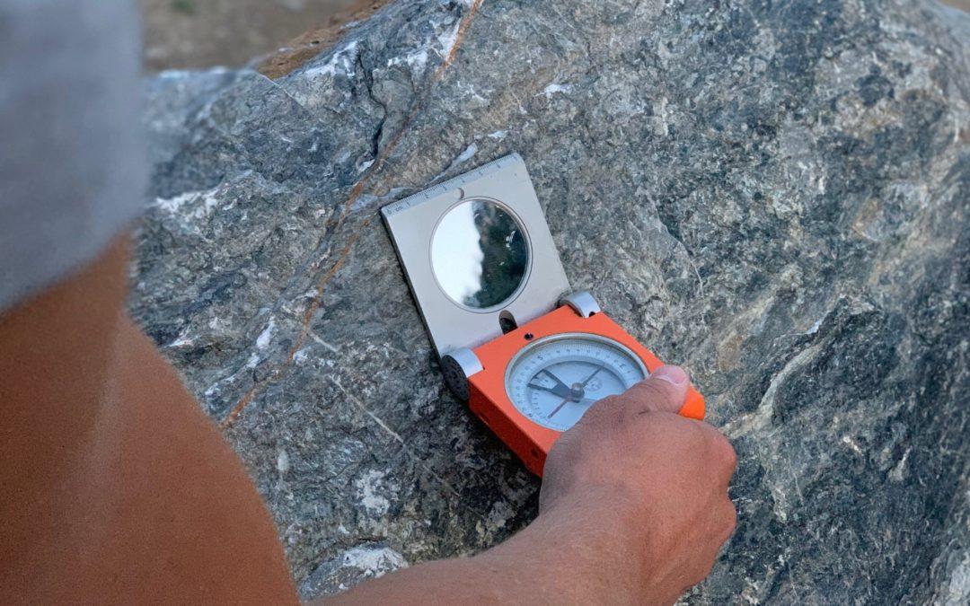 Messung mit Geologenkompass